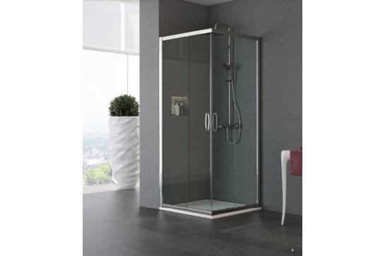 ERICA Box doccia con apertura angolare. Altezza 190 cm